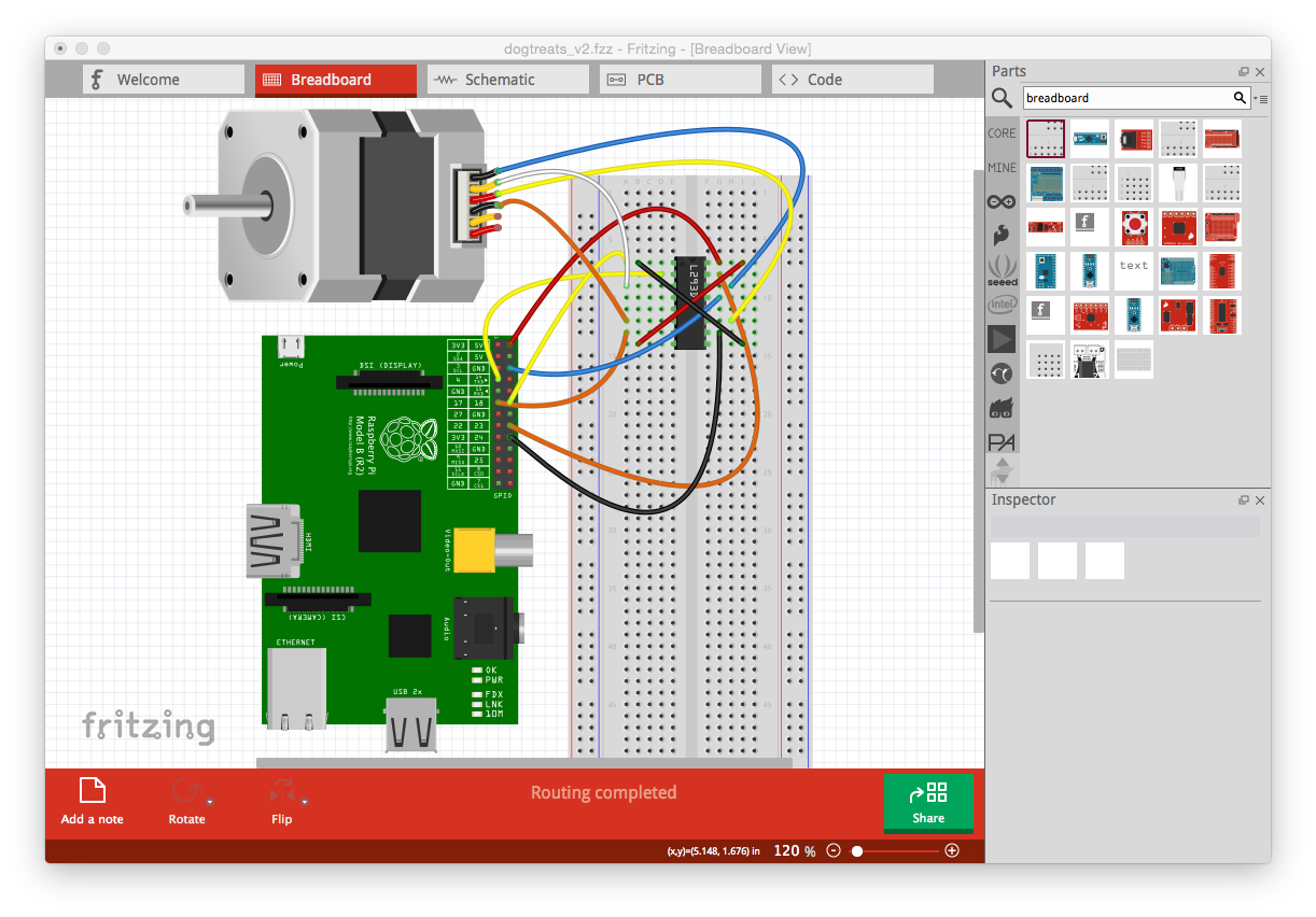 Making Custom Pcbs Fritzing Breadboard Layout And Schematic Diagram With You Start A Virtual Set Up Click The Tab Here Can Search For Various Components Like