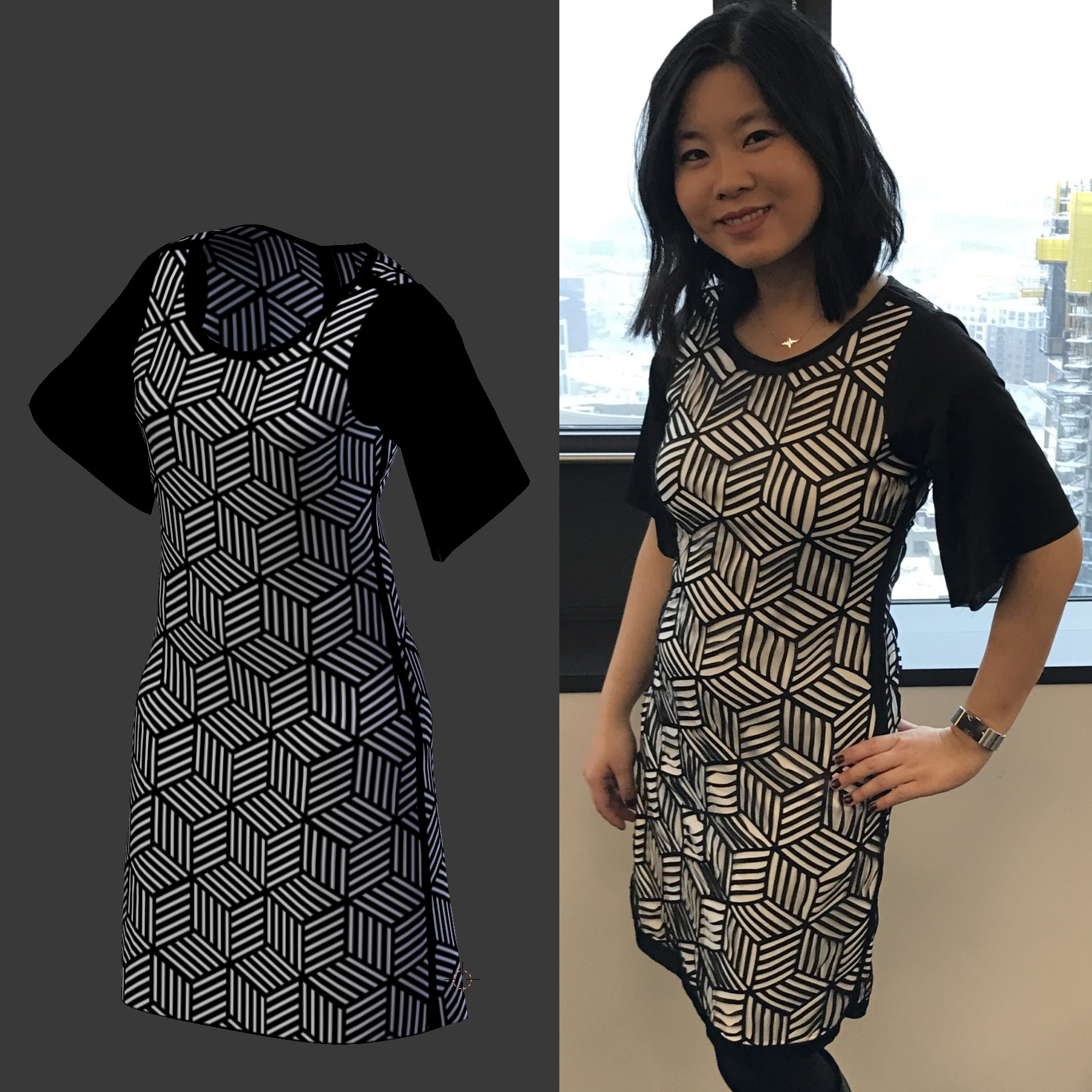 New Laser Cut Dress