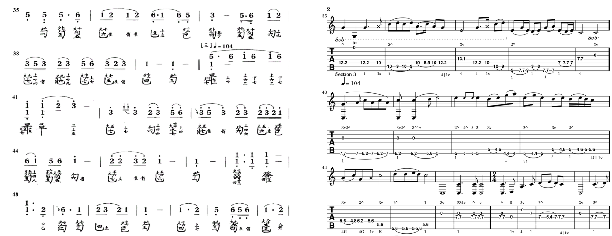 Guqin Part 3: Tablature Old and New